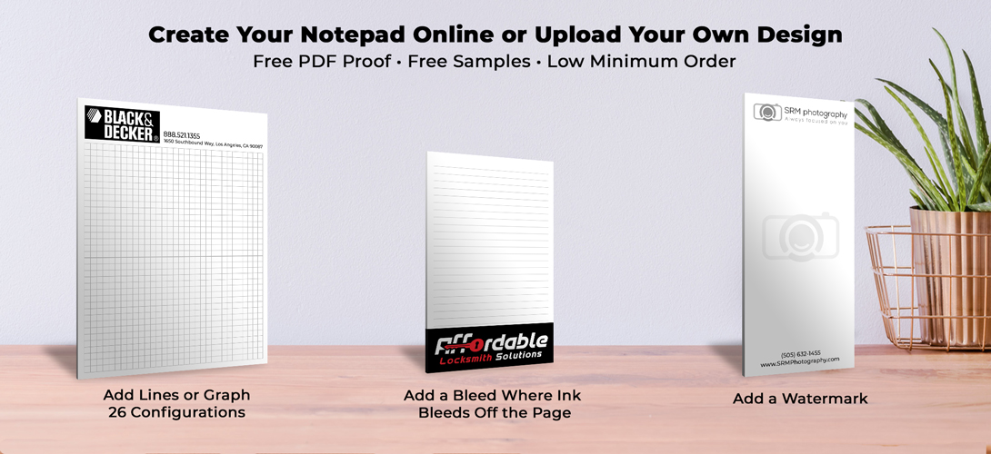Personalized budget notepads