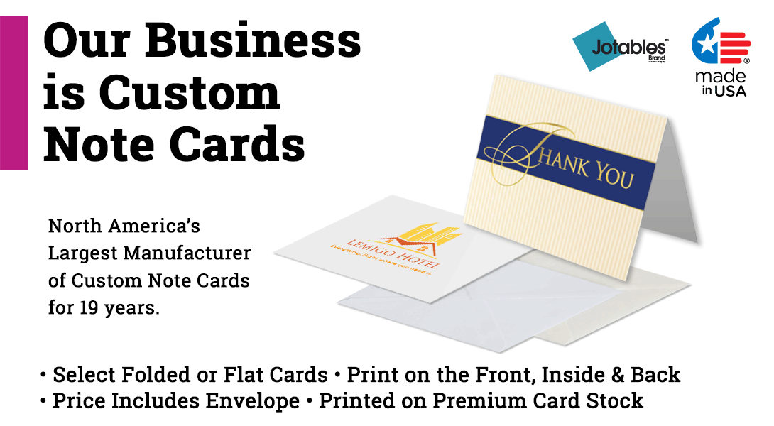 custom note cards - Custom Folded Note Cards