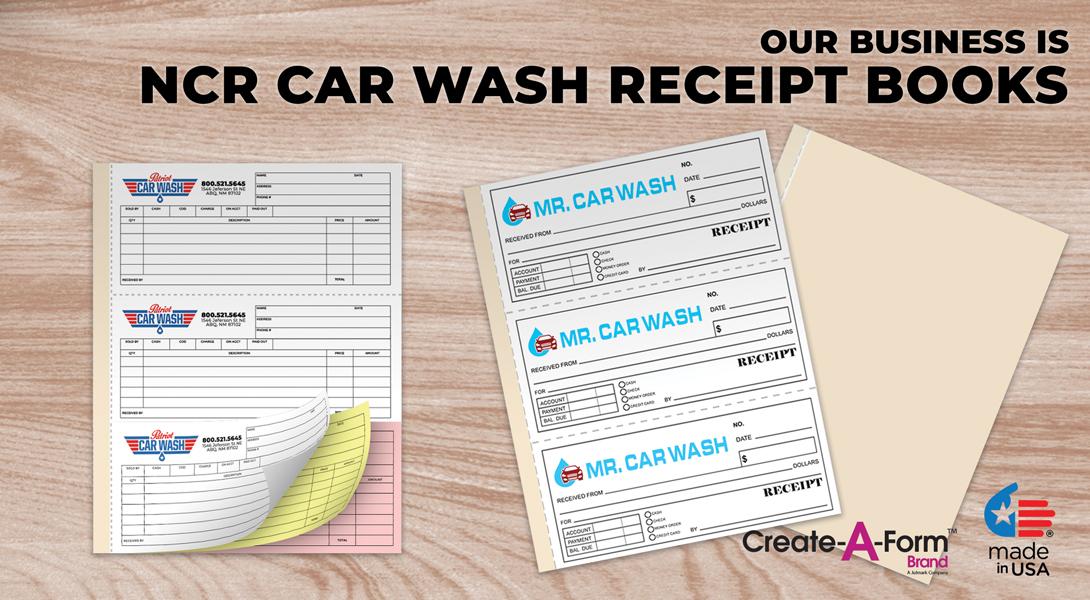 Car Wash Receipt Books