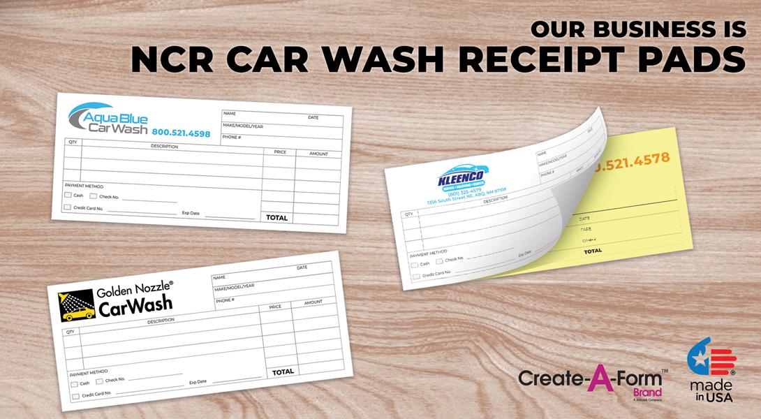 Car wash receipts