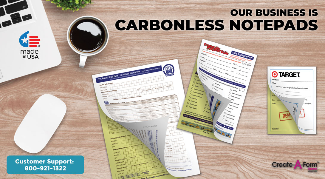 custom carbon copy notepads