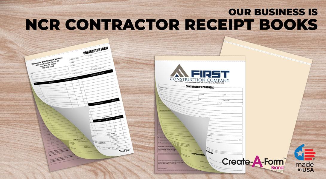 contractor invoice books