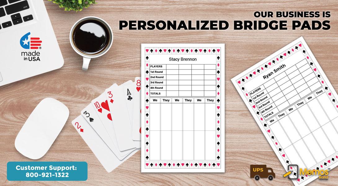 personalized bridge score pads