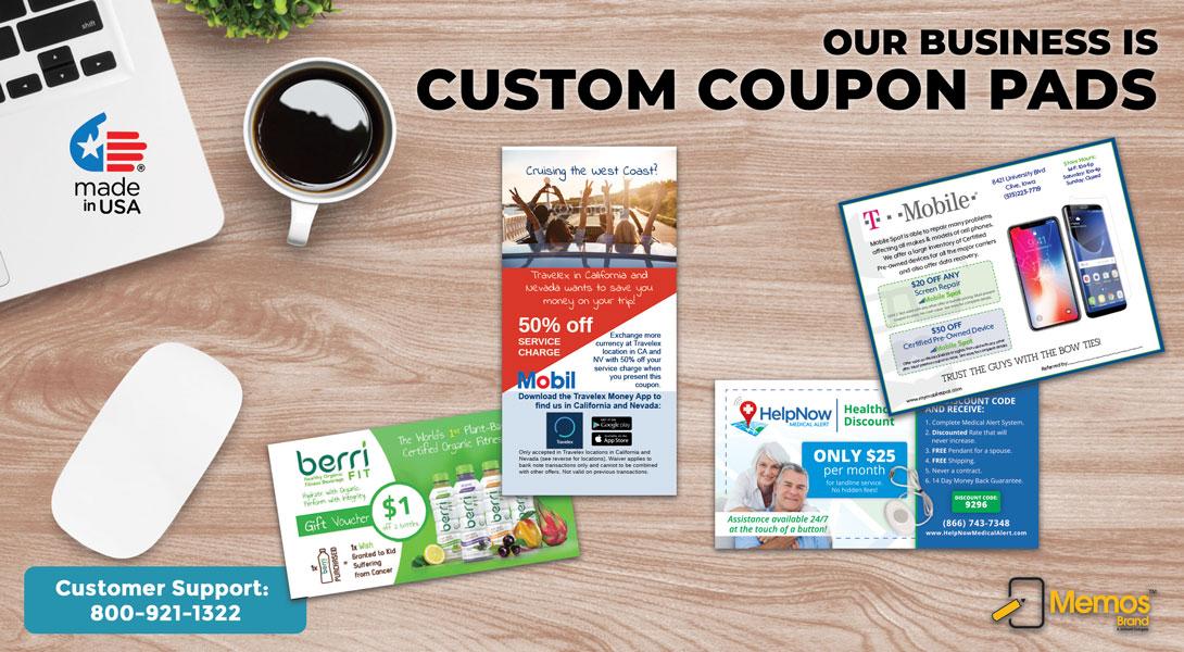 custom coupon pads