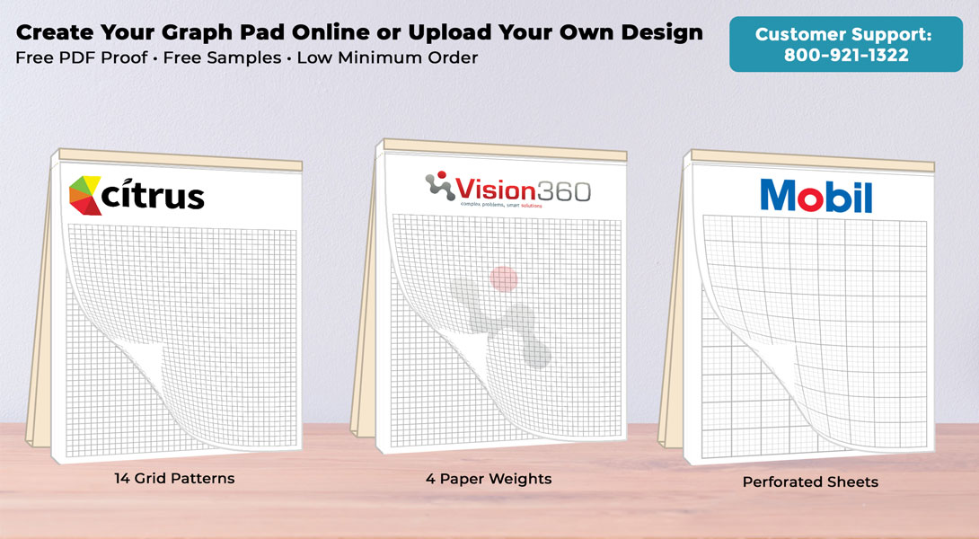 personalized graph pads with cover