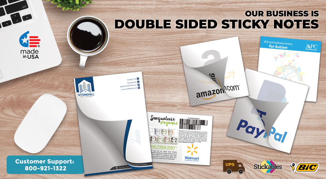 Personalized double side sticky notes