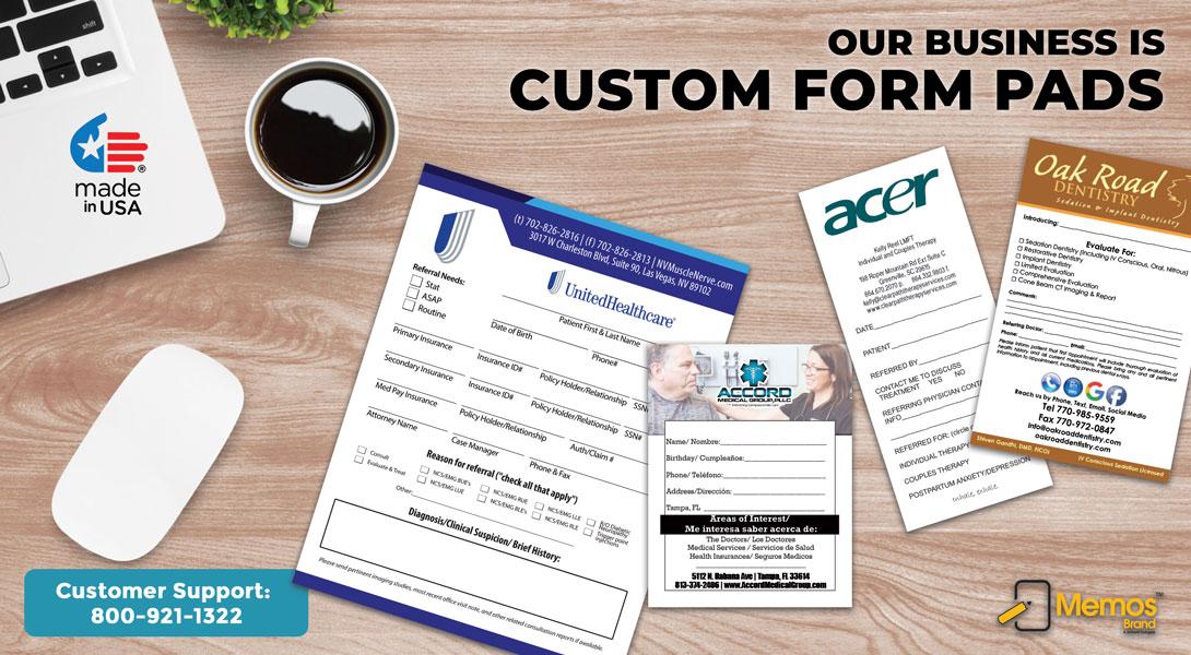 receipt pads custom