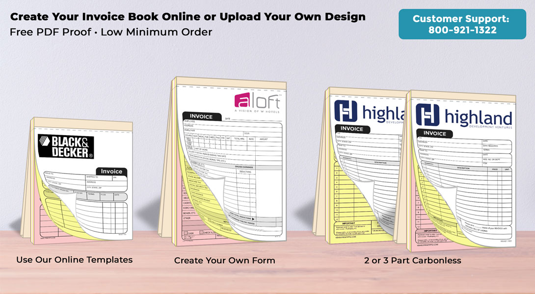 custom carbonless ncr invoice books