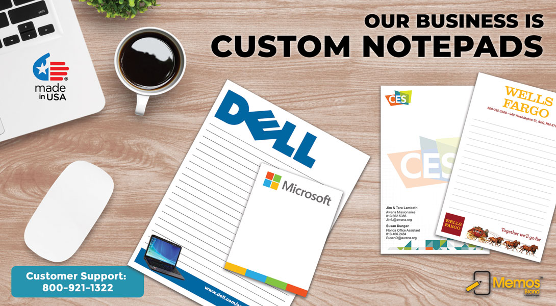 custom business notepads