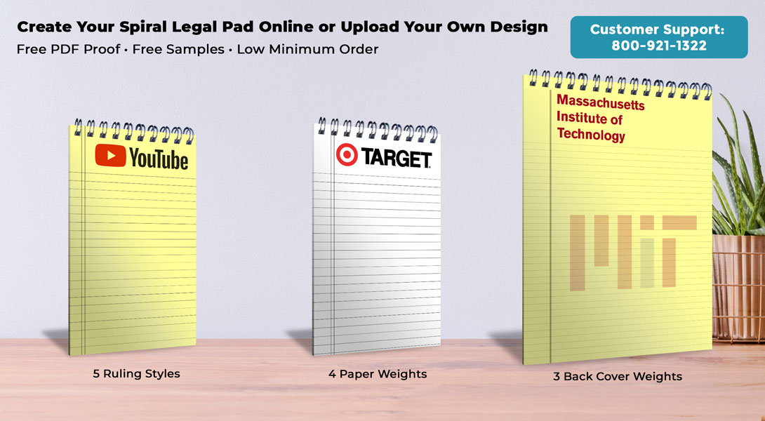Personalized Spiral Legal Pads
