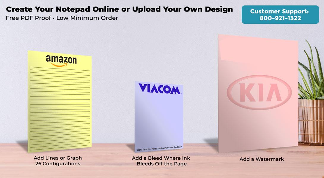 Custom Yellow Notepads