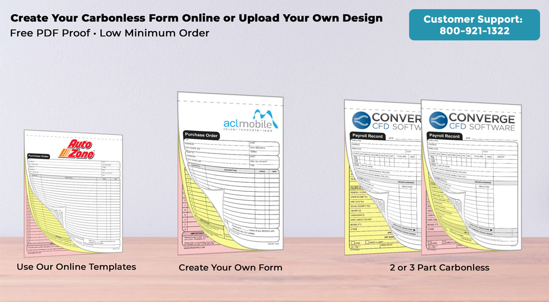 customizable carbon copy forms