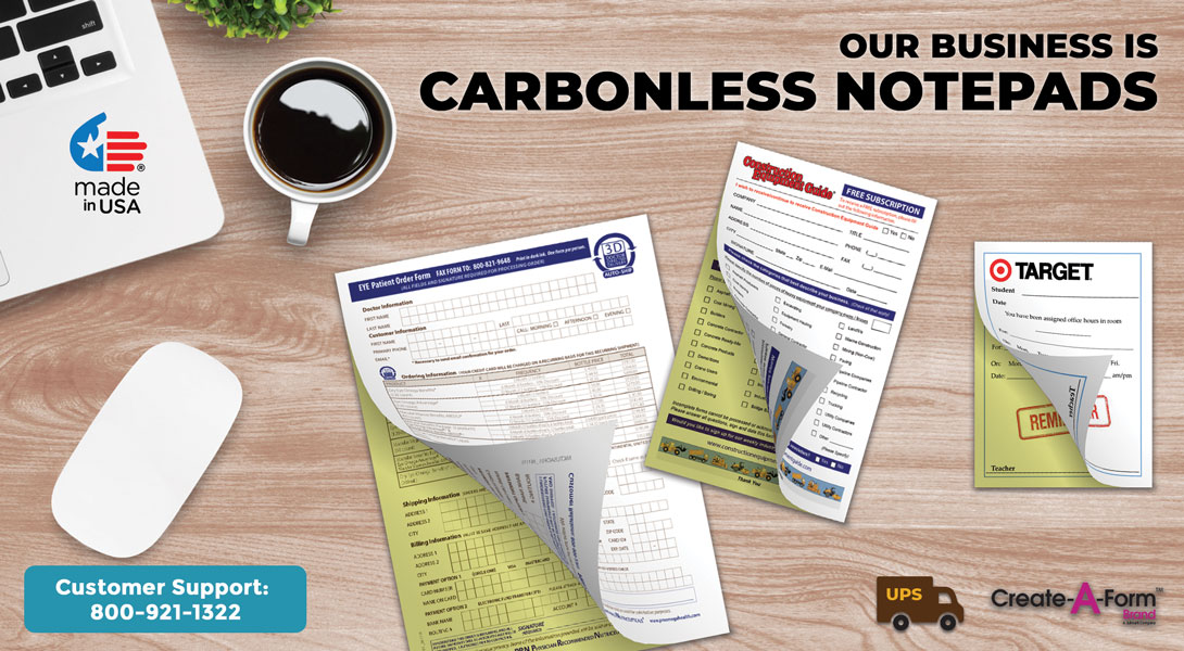 notepads with carbon copies