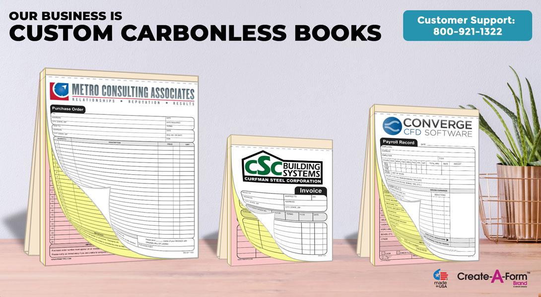 custom carbonless invoice book