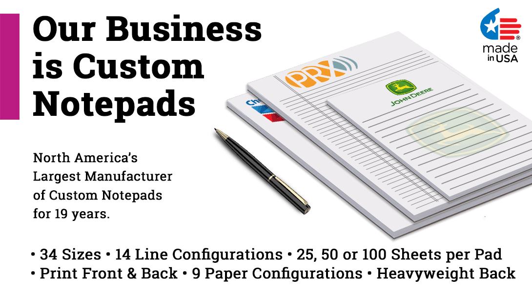 personalized notepads bulk