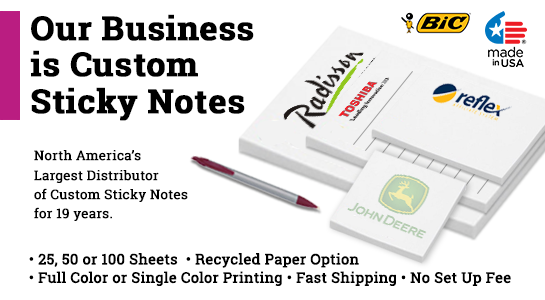 custom post it notepads