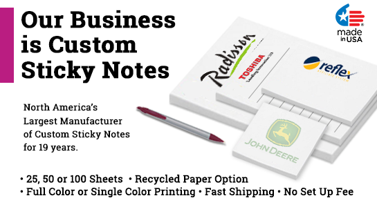 custom sticky notepads
