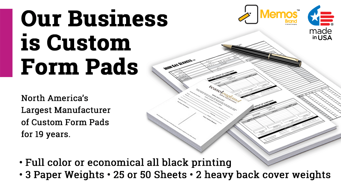 business form note pad