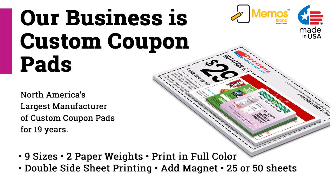 Customized coupon pads
