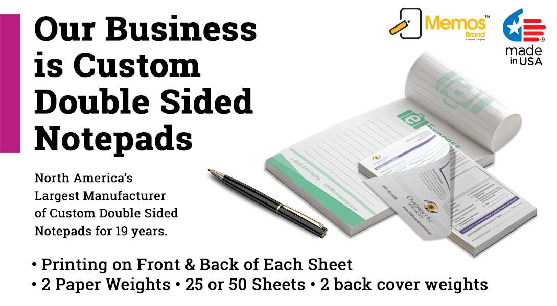 double sided paper notepad