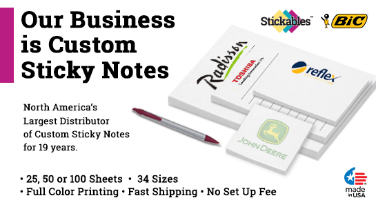 3 x 6 Custom Post It Notes Sticky Notes Stickables Bic