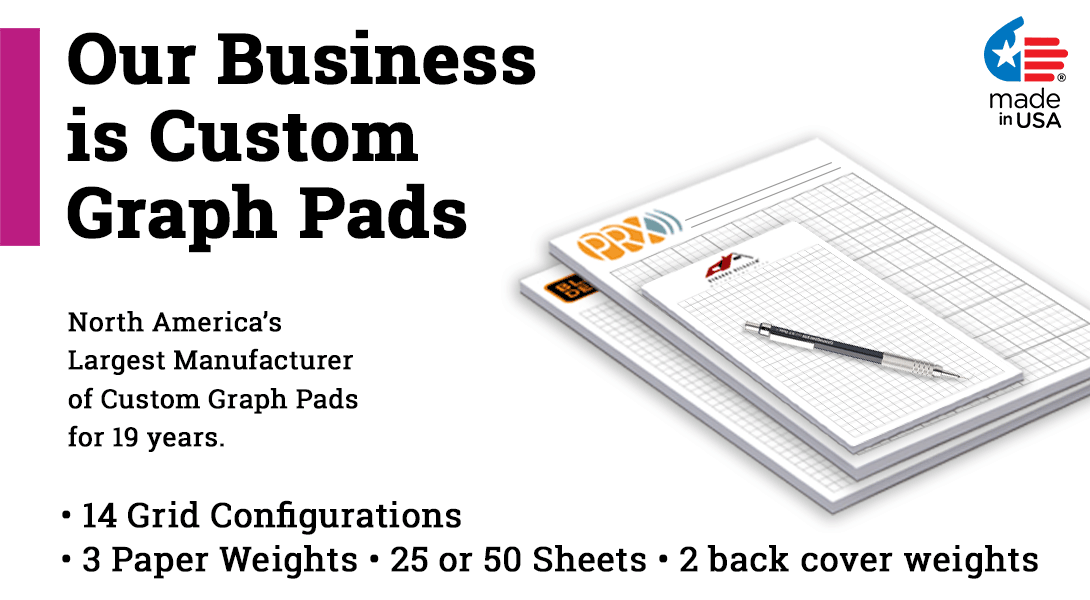 logo graph paper pads