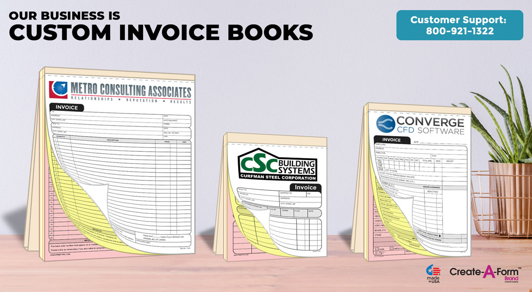 custom carbon copy invoice books