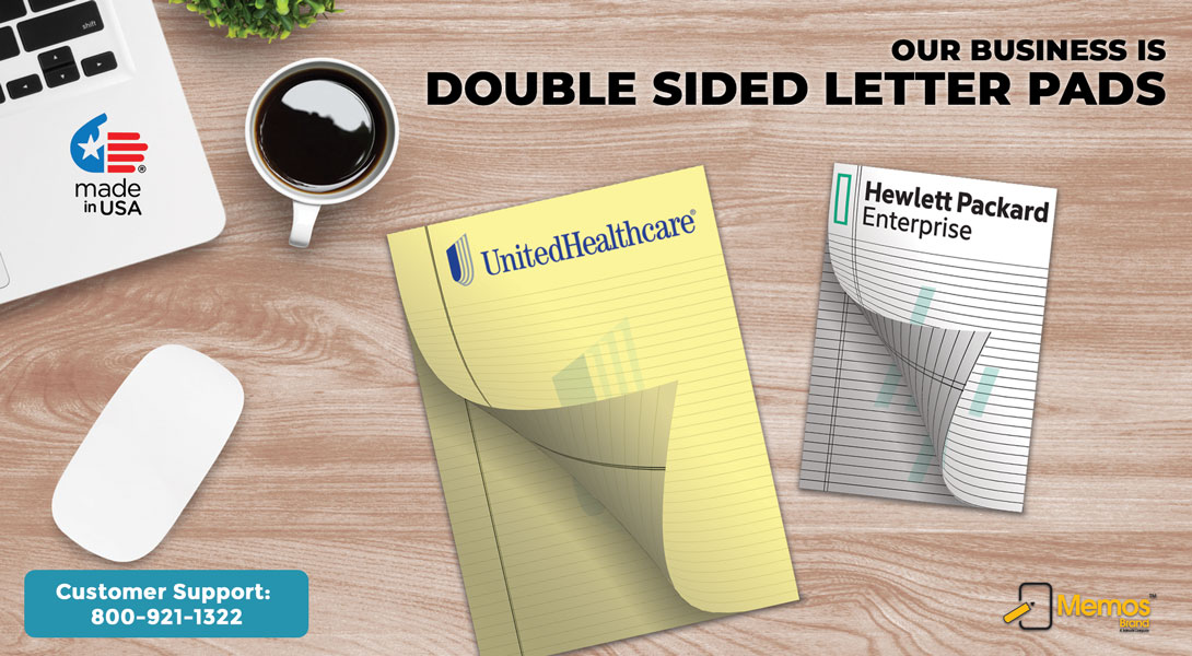 printed double side letter pads
