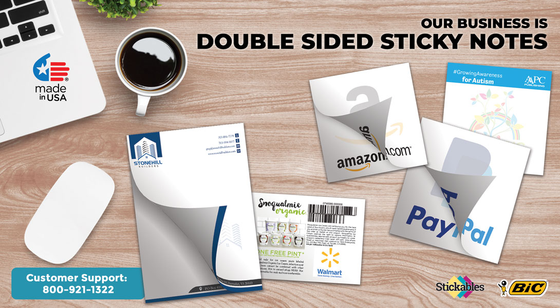 Customized double side sticky notes