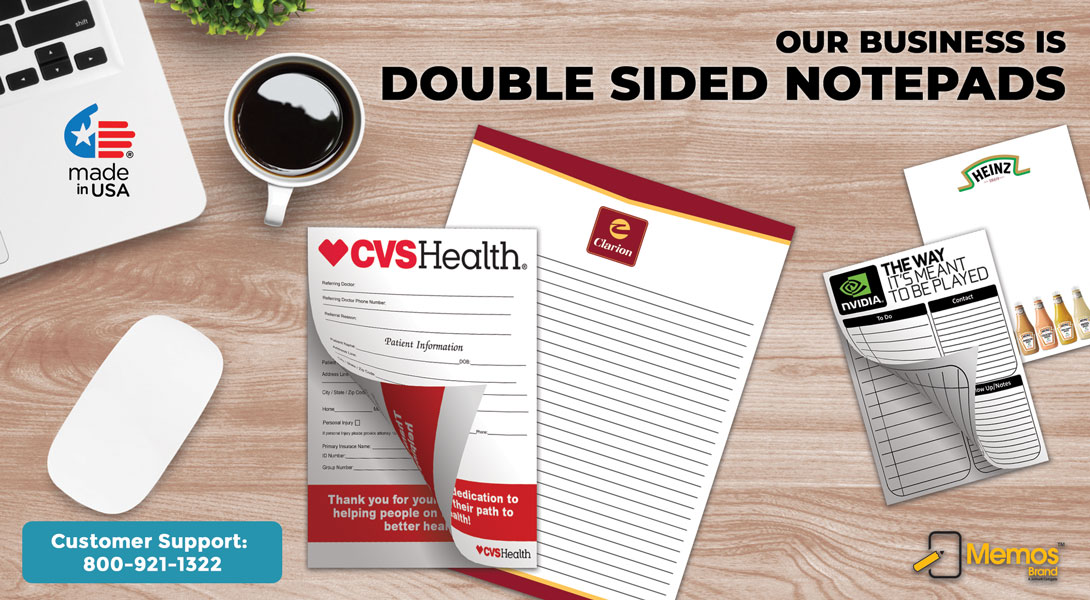 double sided info sheet pads