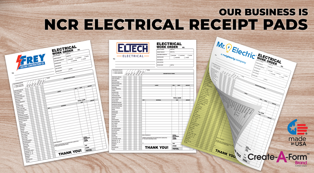 Electrical Invoice Receipts