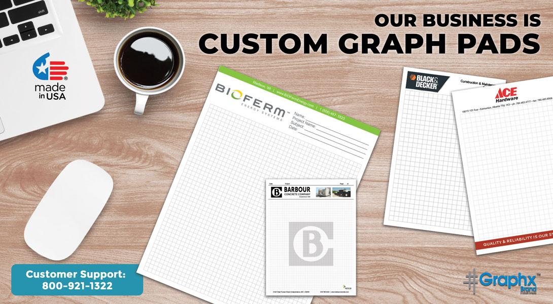 custom graph paper pads