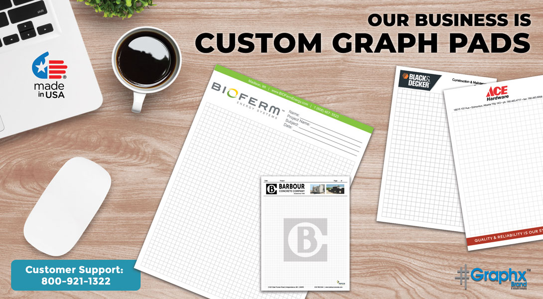 5 x 8 graph paper pads