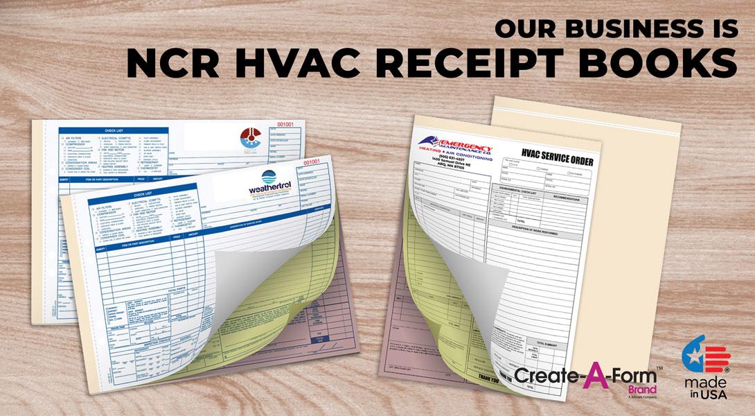 Custom HVAC Invoice book