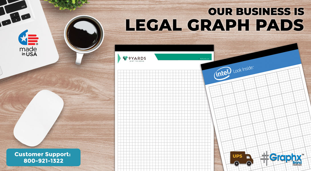 custom legal pad with graph paper