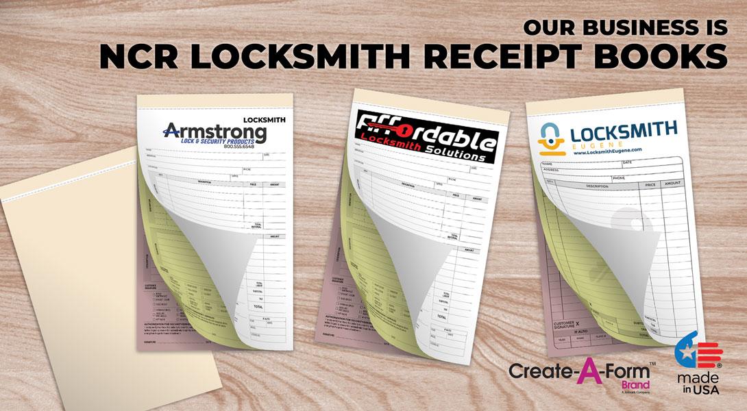 Locksmith receipt book