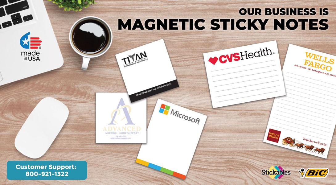 custom magnetic sticky notepads