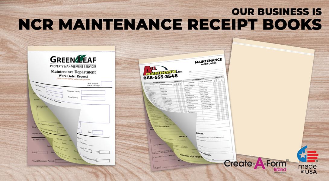 Maintenance Invoice Book