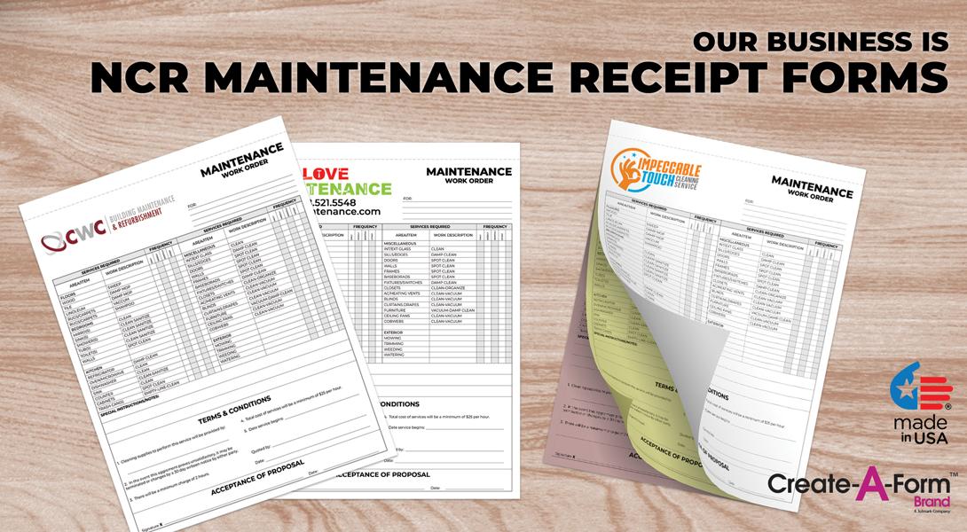 maintenance invoice books
