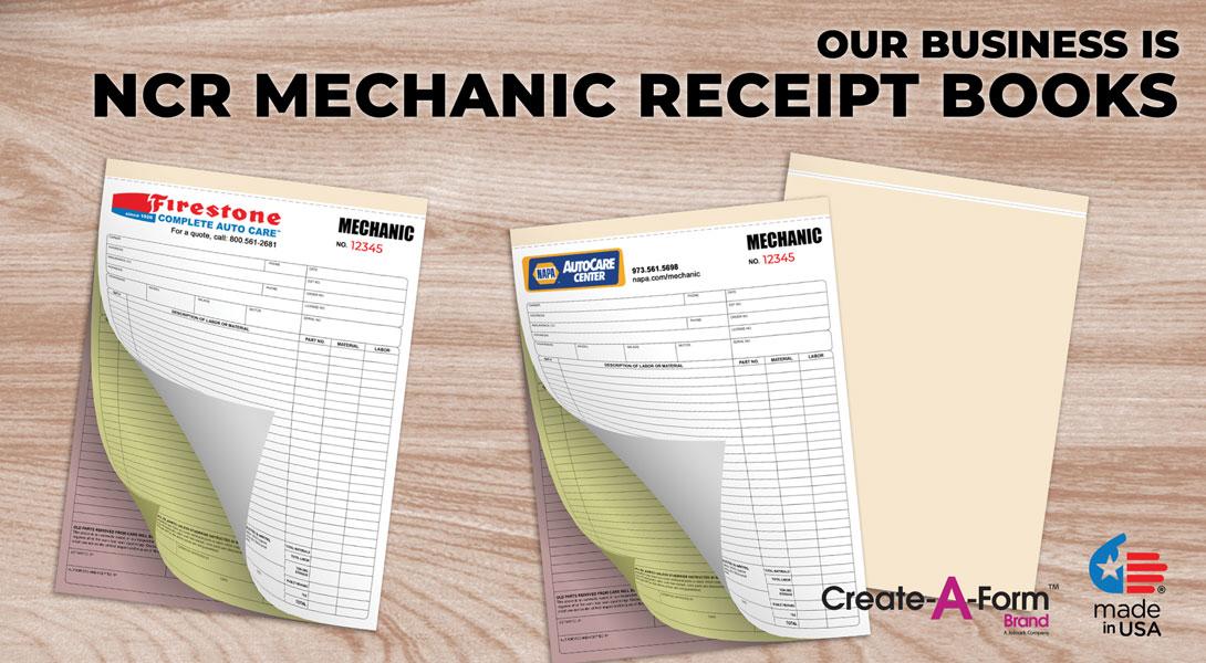 mechanic invoices books