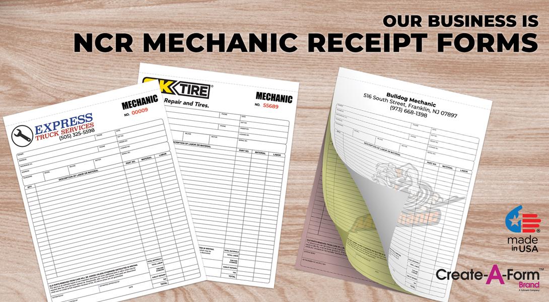 mechanic invoice forms