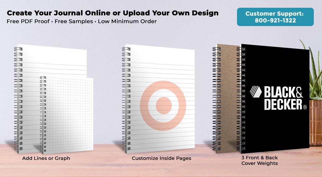 customized journals notebooks