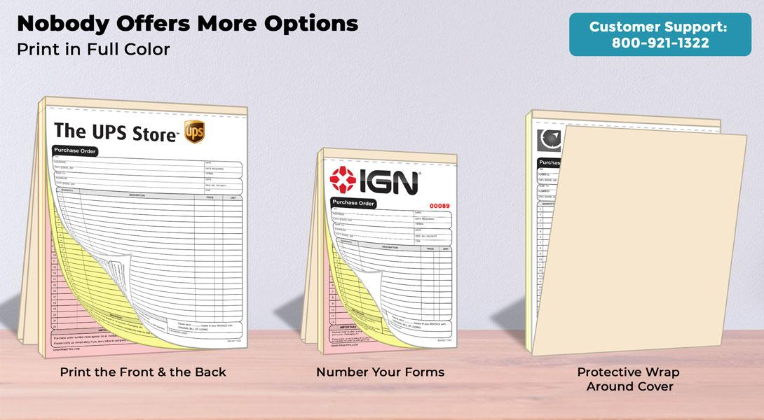 customized invoice book