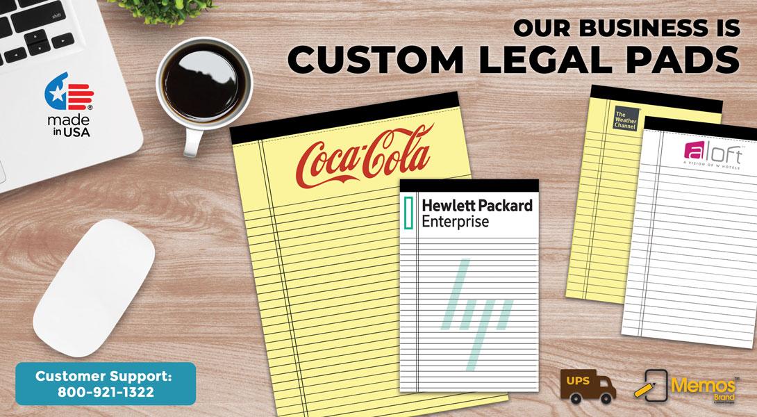 custom printed legal pads