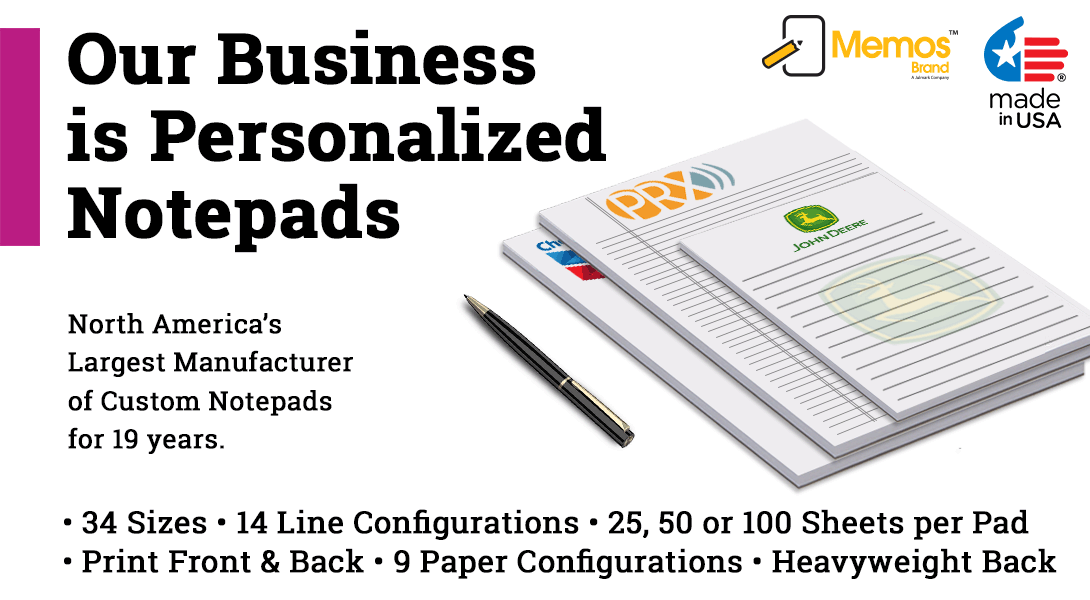 personalized notepads bulk
