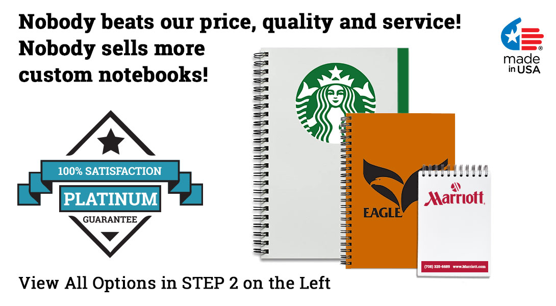 custom logo notebooks