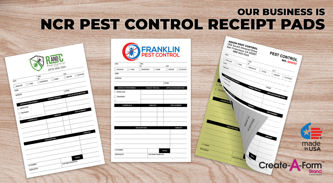 Pest control invoice receipts