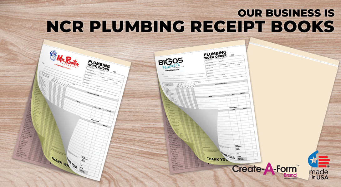 plumber invoices books