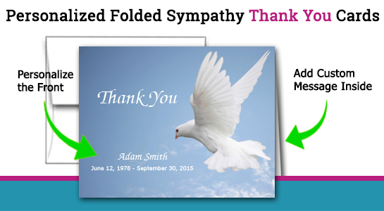 personalized funeral thank you cards