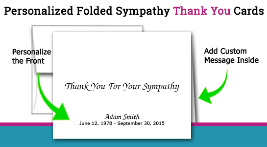 thank you notes for sympathy expressed